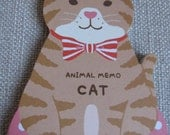 Very Cute Memo Pad/Note Pad From Japan - Cat 80