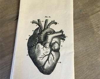 The Heart Tea Towel - Halloween - Gothic -  Medical - Doctor - Gift