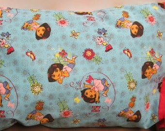 Dora Pillowcase  Toddler/Travel and Standard Size