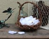 Beautiful satin rose petals in white, you choose quantity, handmade wedding rose petals, custom colors