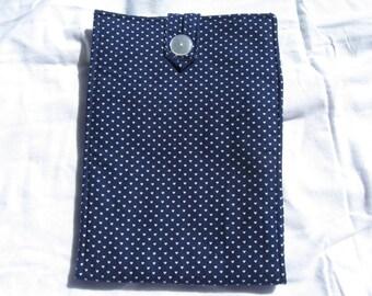Blue Heart Circular Knitting Needle Case Holds 2 Circular Knitting Needles