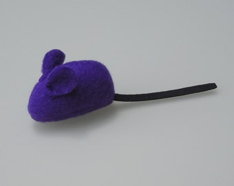 Catnip Mouse Cat Toy Dark Purple Fleece