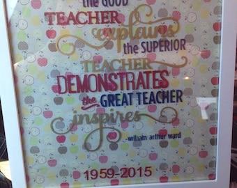 Teacher appreciation Frame