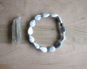 white howlite teardrop bracelet.  stacking bracelet. summer fashion. custom sizing.