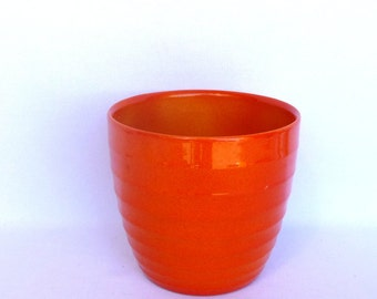 Vintage ORANGE GERMAN PLANTER/ Scheurich Planter
