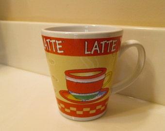 Vintage Latte Coffee Cup