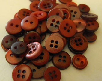 Burgundy Red Buttons, 50 Small Assorted Round Sewing Crafting Bulk Buttons