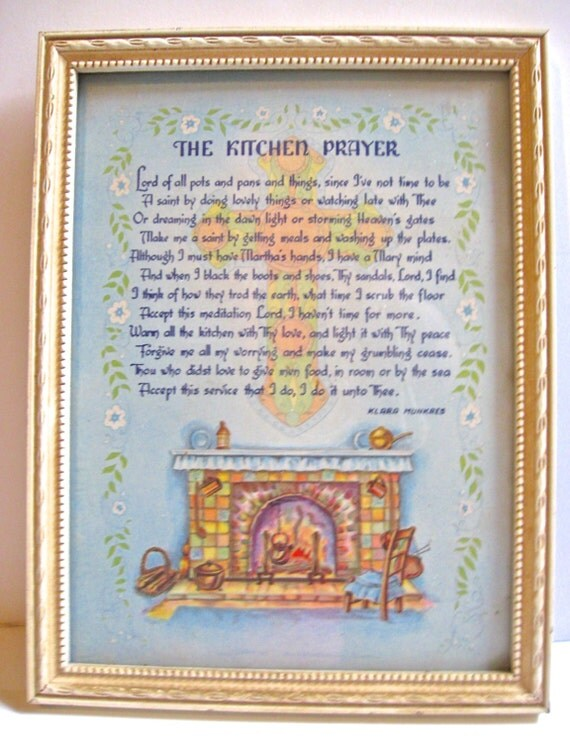 Take 20% Off Vintage The Kitchen Prayer Framed by Kara Munkres