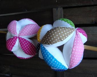 Puzzle ball, Montessori baby toy, fabric ball
