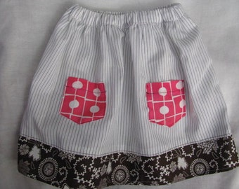 Stripes and Polka Dots Skirt Size 4T