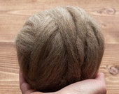 Driftwood Grey Brown Needle Felting Wool, Wool Roving, Wet Felting, Spinning, Dyed Felting Wool, Oak, Gray, Fiber Art Supplies