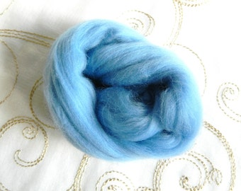Merino Wool for Wet Felting Needle Felting Greens and Blues 25g