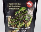 Glow in the Dark Mushroom Growing Habitat Log Pre Inoculated kit