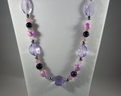 Laughing Purple Necklace