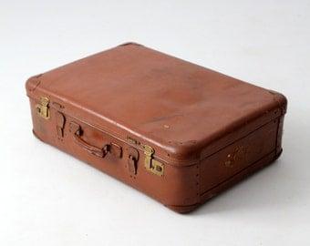 vintage 30s Echt Vulkanfiber suitcase, German luggage