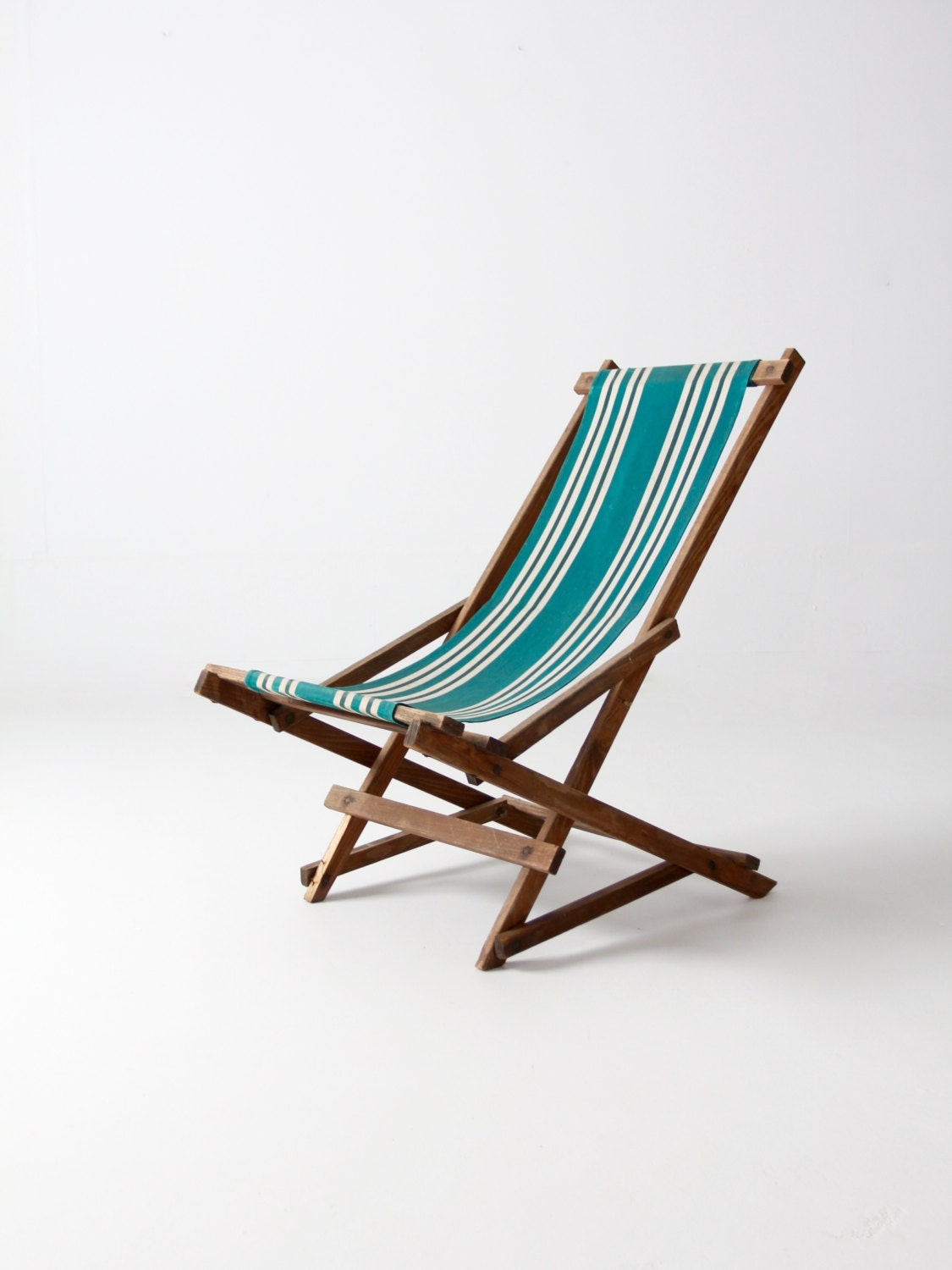 Vintage Striped Deck Chair Rocking Deck Chair Folding Beach
