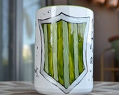 Made to Order - Slytherin House Cup - Hogwarts Houses - White, green, silver - Pottermore - Harry Potter - Cunning, shrewd - Crest