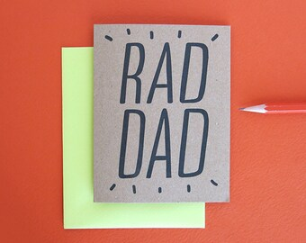 Rad Dad - Happy Father's Day // Letterpress Printed Card