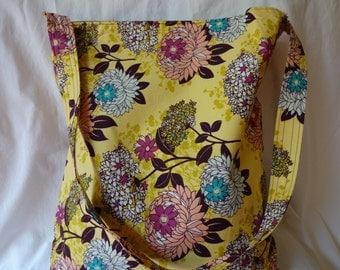Yellow and Purple Tote Bag
