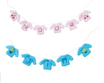 Crochet Baby Sweater Garland  PDF Pattern - Instant Download