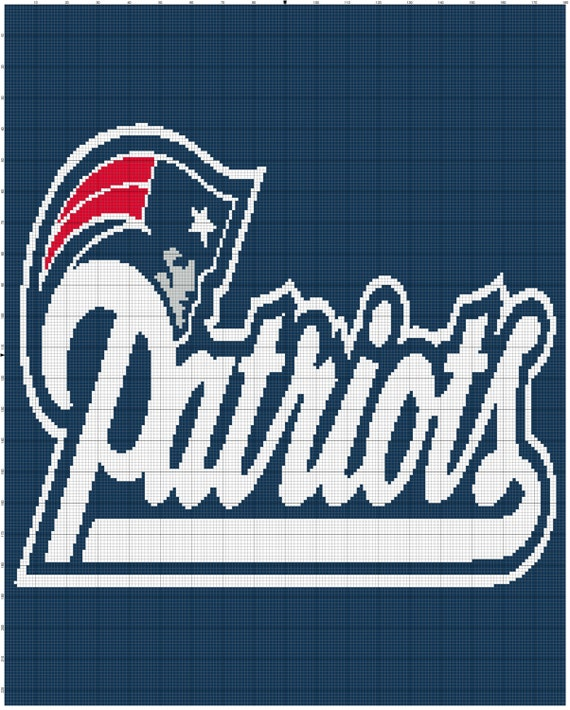 Free Crochet Pattern For New England Patriots Afghan : INSTANT DOWNLOAD new england patriots by DaniellesCrocheting