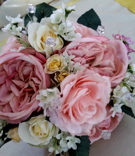 Bridal Bouquet Estimates : Mm crystal stems bridal bouquet jewelery craft wedding