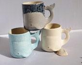 Whale Mug Handmade Large Ceramic Coffee Mugs from my Charleston, SC Studio