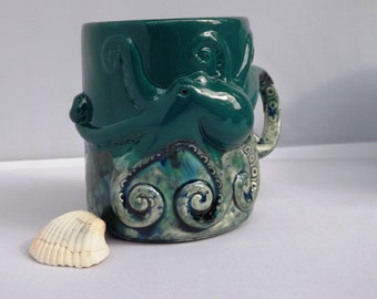 Octopus Mug Handmade Ceramic Mug from my Charleston, SC Studio