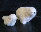 RARE  1890s 1920s Grenfell Mission Industries Inuit Eskimo Handmade Polar Bear and Seal