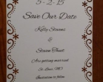 Save the Date announcemets (Set of 10)
