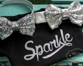 BLACK FRIDAY SALE Girls Baby Sparkle Graphic Tee - Glitter shirt - Glitter Tee- Sparkle Shirt- girls onesie