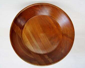 Mid Century Walnut Fruit Bowl on Pedestal HEIRLOOM WALNUT