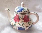 Vintage J.B. & W Germany Hand Painted Porcelain Floral Teapot
