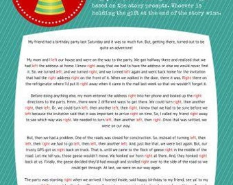 Pass the Present Birthday Party Game Instant Download