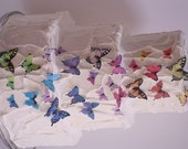 27 Assorted sizes edible butterflies for cake decorating, cupcake butterflies, cake pops. Wafer paper butterflies, wedding cake toppers.