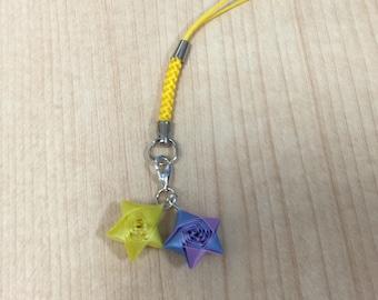 Origami 2 Straw Stars Phone Strap