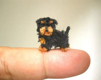 Miniature Yorkipoo - Tiny Crochet Miniature Dog Stuffed Animals - Made To Order