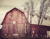 Red Barn Photography, Red Barn Landscape, Rustic Home Decor, Red Country Decor, Barn Photograph, Red Barn Print, Farmhouse Art, Barn Print.