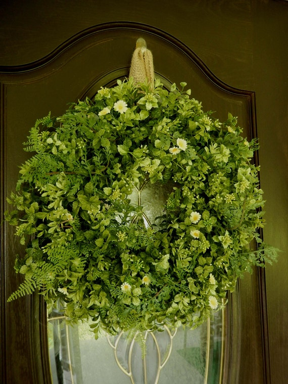 summer wreath fall wreath boxwood wreath wreath by