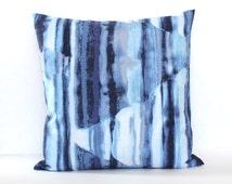 Decorative Blue White Ombre Throw Pillow Cover Euro Sham 26x26 24x24 22x22 20x20 18x18 16x16 14x36