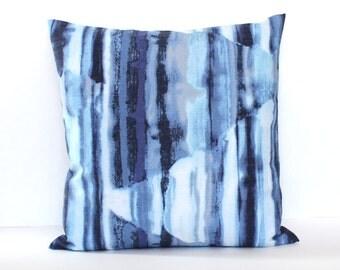 Blue Pillow Cover Blue White Ombre Throw Pillow Cover Beach Decor Decorative Pillow Euro Sham 26x26 24x24 22x22 20x20 18x18 16x16 14x36