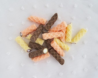 6pcs - Creamy Pocky Mix Snacks Decoden Cabochon (26mm) CE10018
