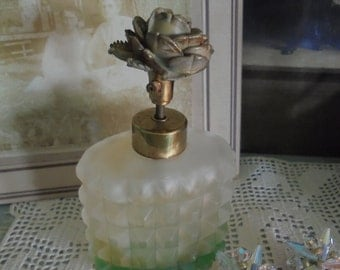 Vintage frosted I Rice perfume bottle