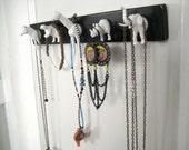 White Animal Key Holder // Jewelry Organizer // Small Wall Hooks