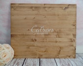 Wood Slab Guest Book Large Wood Guest Book Rustic Wedding Guest Book Graduation Guest Book Rustic Wood Guest Book Sign #DownInTheBoondocks