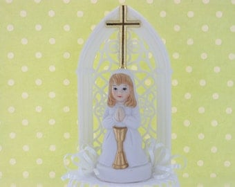Girl First Communion Cake Topper / Decoration