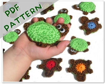 PATTERN Turtle Memory Game PDF - Crochet Toy Instant Download