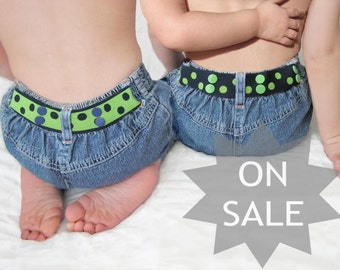 Toddler Belt Boy Reversible - Navy & Green