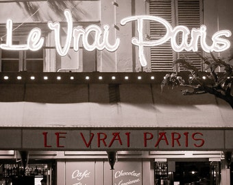 Paris photography, Paris in black and white, Paris art print, Paris cafe - The Real Paris