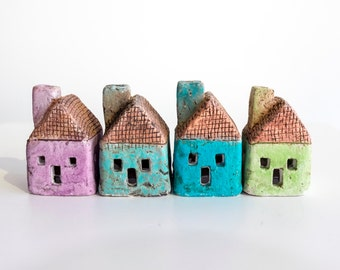 Blue Ceramic House - Tiny